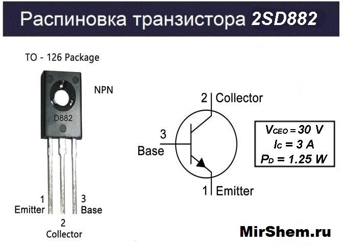 Распиновка D882