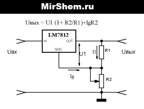 Ток через резистор R1 и r2