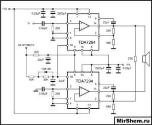 Мостовая схема TDA7294