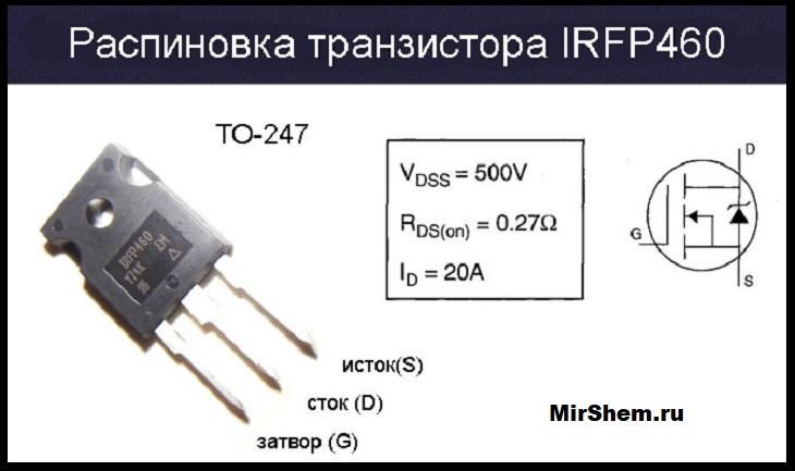 IRFP460 цоколевка