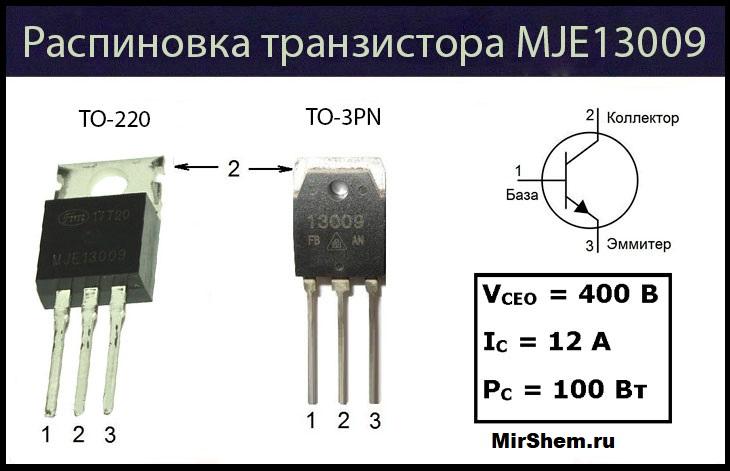 MJE13009 цоколевка