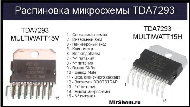 TDA7293 цоколевка