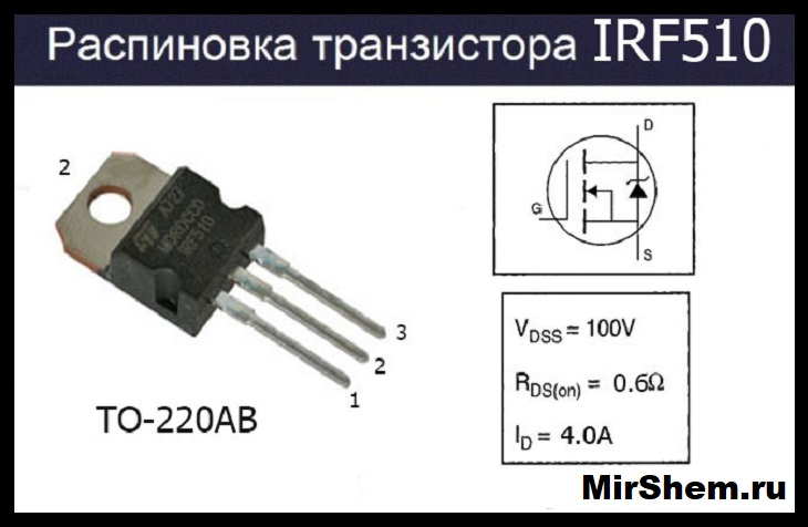 irf510 цоколевка