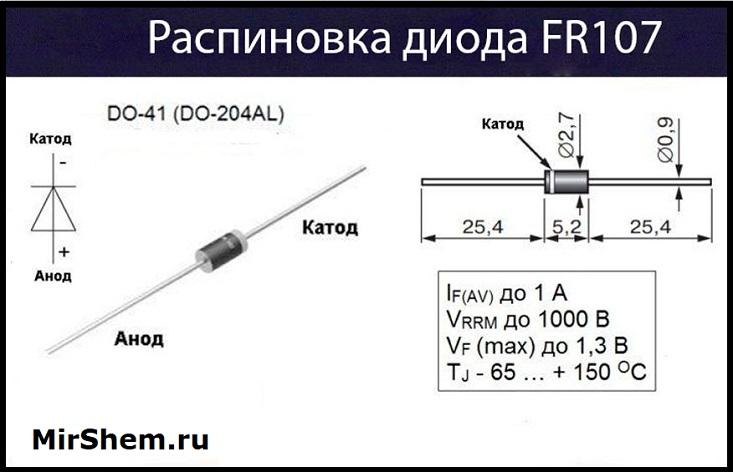 FR107 цоколевка
